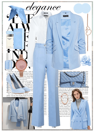 elegance blue woman outfit