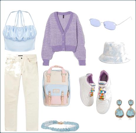Purple-blue-ex white