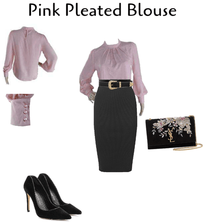 Pink Pleated Blouse
