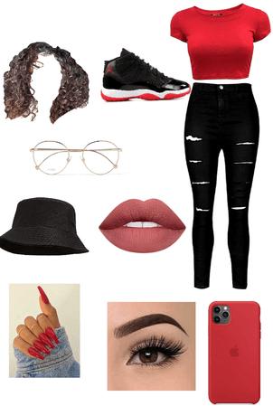 red baddie outfit