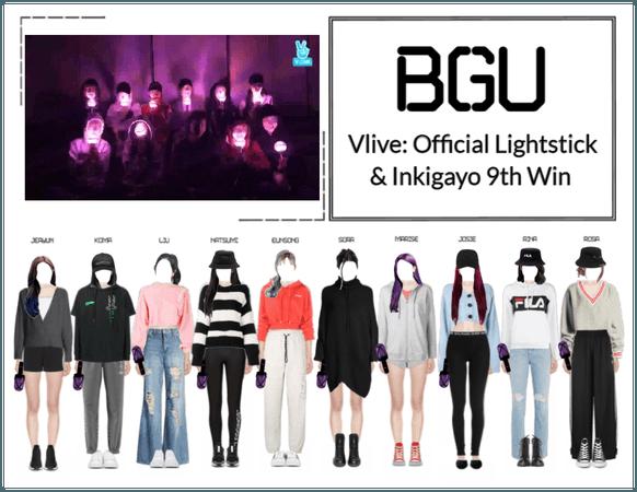 BGU Vlive: Official Lightstick & Inkigayo 9th Win