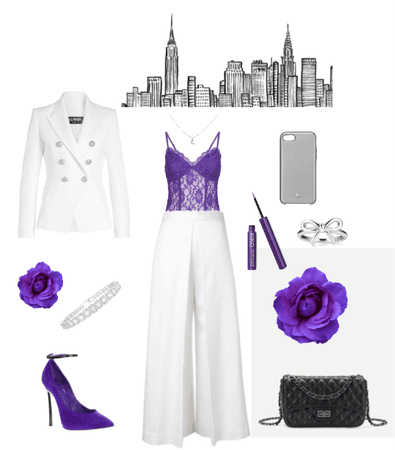 purple in city