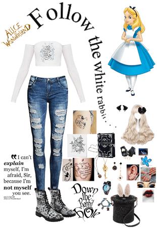 Modern Alice from Alice In Wonderland