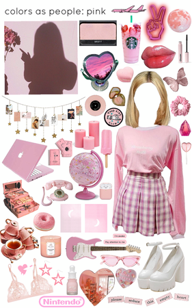 colors as people: pink
