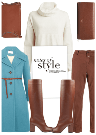 Get The Look: Cognac and Blue