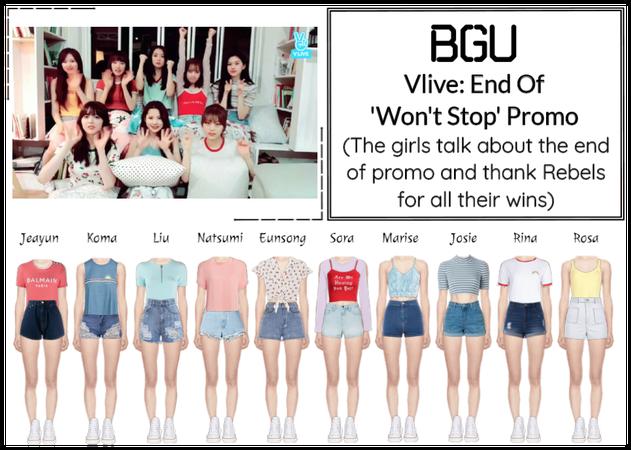 BGU End Of 'Won't Stop' Promo