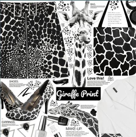 B&W Giraffe Print Style