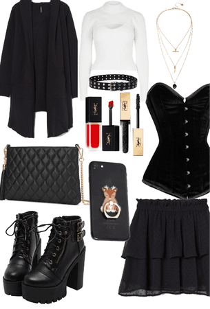 Black emo outfit