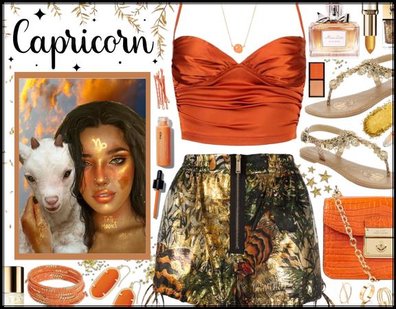 Capricorn: Orange & Gold