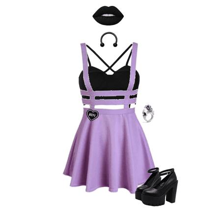 Purple pastel goth