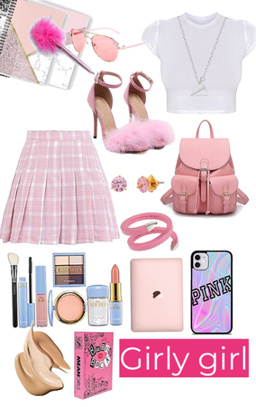 girly girl school outfit