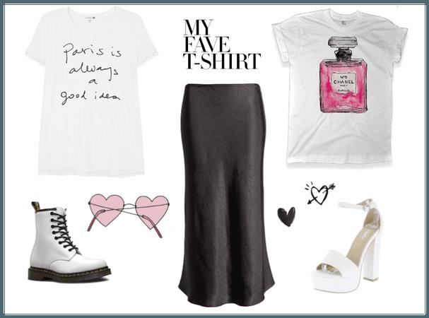 Graphic Tee (Midi Skirt)