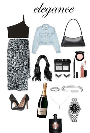 Satin Midi Skirt Outfit