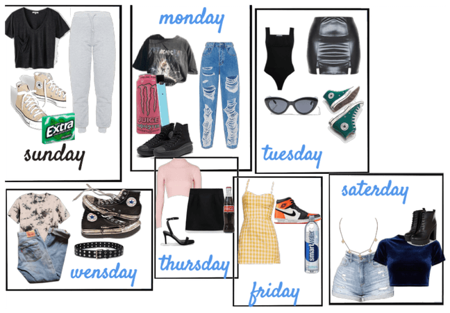 weekly outfits