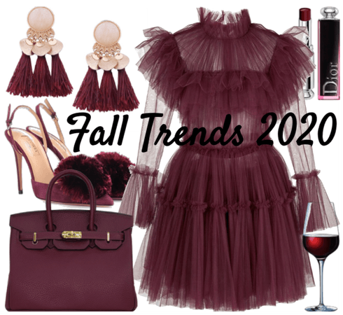 fall trends 2020 - wine red