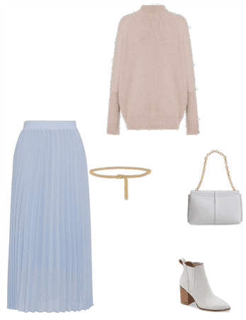 A set of clothes in soft colors