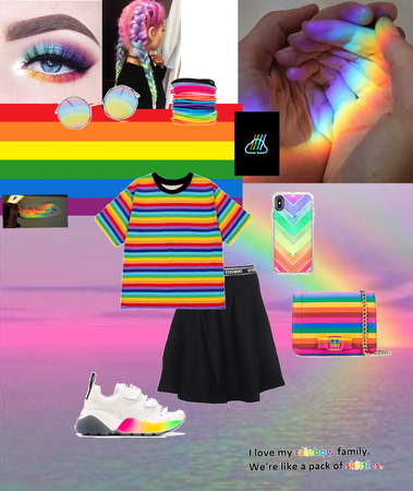 rainbow love performance outfit