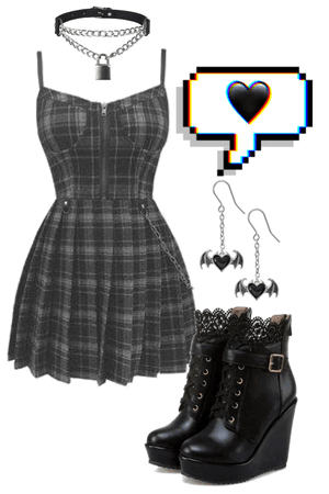 gothic dress look
