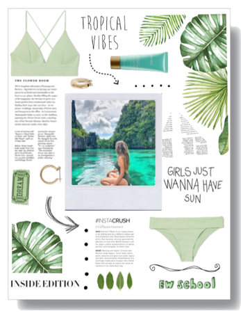 Green Tropical Girl