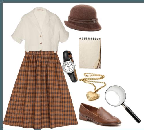 Nancy Drew brown outfit (Bonita Granville)