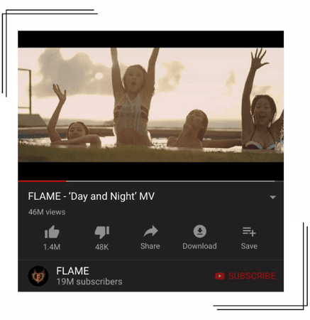 FLAME - 'Day and Night' MV [190719]
