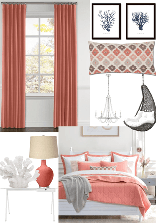 coral theme room