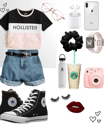 Pink Hollister basic girl 💕