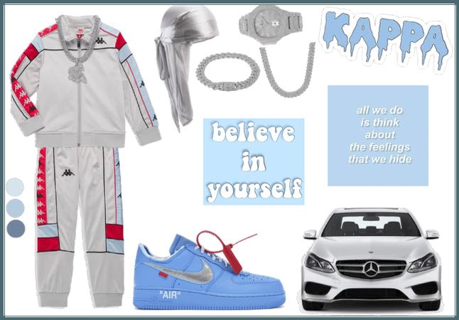 Blue Kappa Outfit