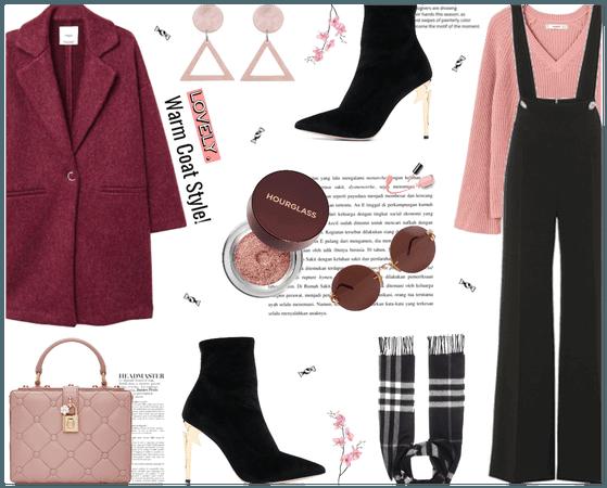 Warm coat style!
