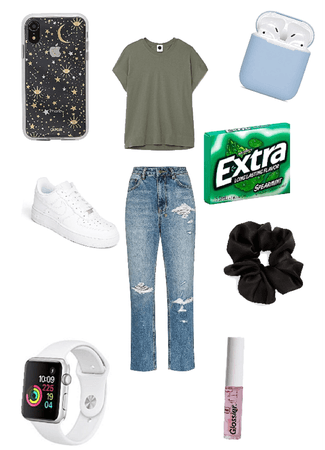 Cute but easy throw on outfit