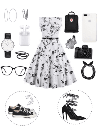 black 'n white summer outfit