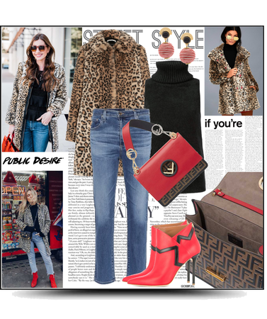 Leopard and jeans