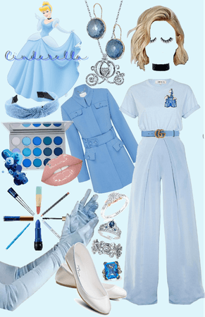 Cinderella Disneybounding collage!