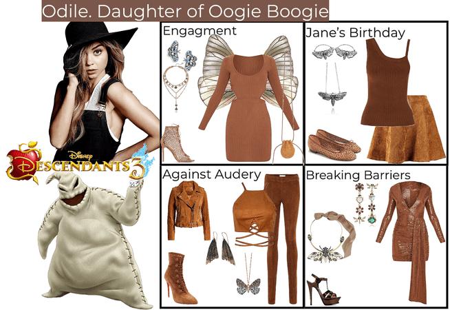 Odile. Daughter of Oogie Boogie. Descendants 3