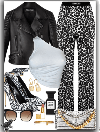 Leopard in leather