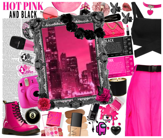 #Hot-Pink-&-Black #Pink-Shoe-Challenge