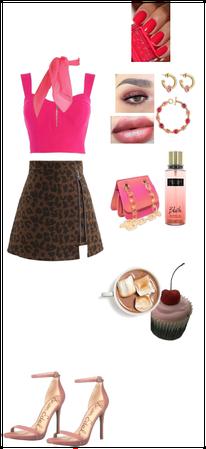 Hot chocolate  and cherry cupcake