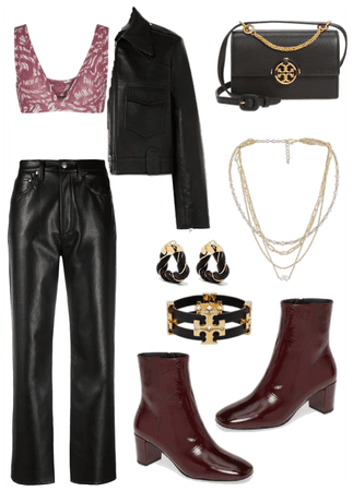 fall burgundy outfit