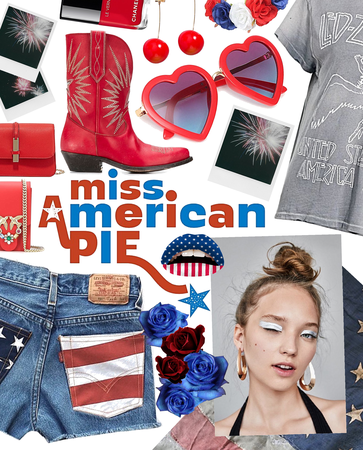 wink wink | 4th of July - red white & blue