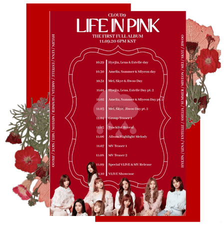Cloud9 (구름아홉) | Life In Pink Schedule | 20201029