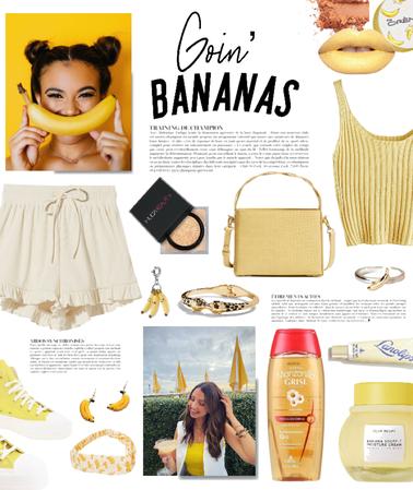 A banana-themed look