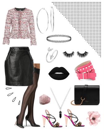 tweed + leather