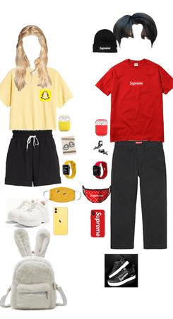 Snapchat girl 💛 & supreme boy 🖤