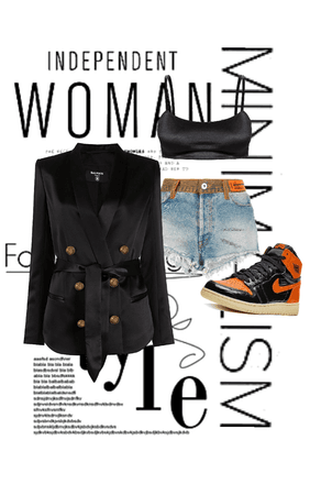 smart causal with a pop of orange