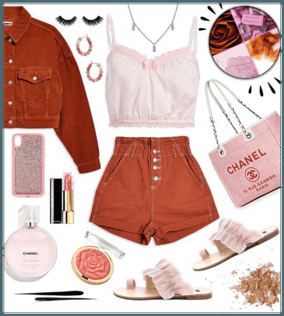 Rust & Pink Cute & Casual