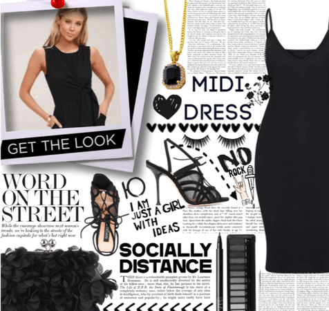 All Black Midi Dress