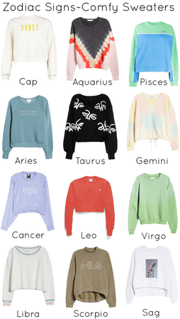 Zodiac Signs~Comfy Sweaters