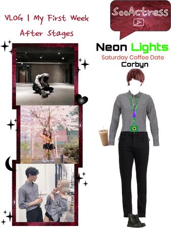 Neon Lights Corbyn in Jisoo's Vlog