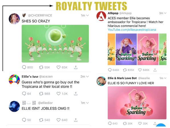 [ROYALTY TWEETS] REACTING TO ELLIE'S COMMERCIAL
