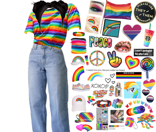 Gay pride 🏳️🌈 outfit for @pronsgiepie